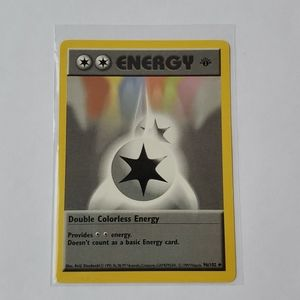 1st Edition Shadowless NM Double Colorless Energy